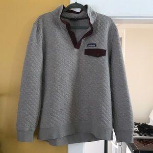 Patagonia Cotton Quilted Snap Sweatshirt